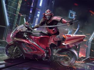 Собирать пазл Красный самурай онлайн