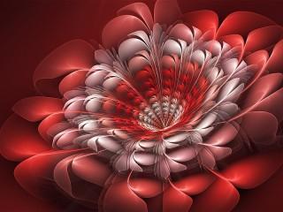 Собирать пазл Красный цветок онлайн