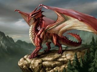Собирать пазл Красный дракон онлайн