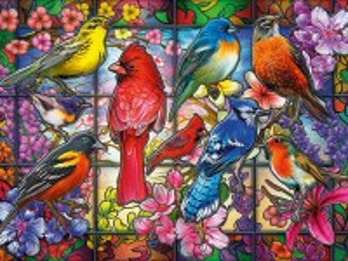 Собирать пазл Красочный витраж онлайн