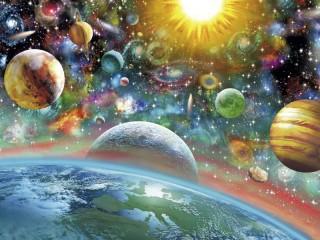 Собирать пазл Красочный космос онлайн