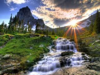 Собирать пазл Красота водопада онлайн
