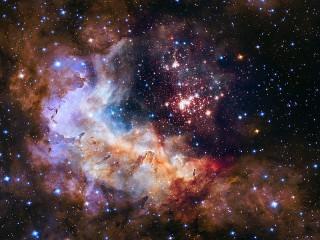 Собирать пазл Красота вселенной онлайн