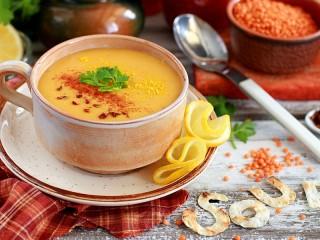 Собирать пазл Крем-суп онлайн