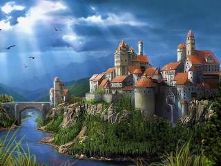 Собирать пазл Крепость онлайн