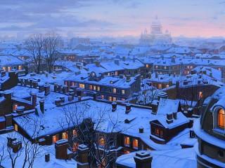 Собирать пазл Крыши Петербурга онлайн
