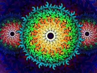 Собирать пазл Круговая абстракция онлайн