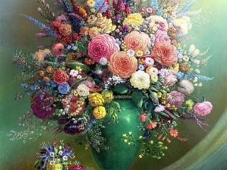 Собирать пазл Кружева цветов онлайн