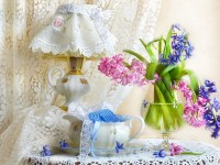 Собирать пазл Кружева весны онлайн