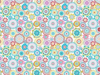 Собирать пазл Кружочки-цветочки онлайн