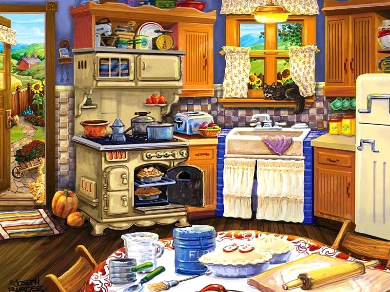 Пазл Собирать пазлы онлайн - Кухня