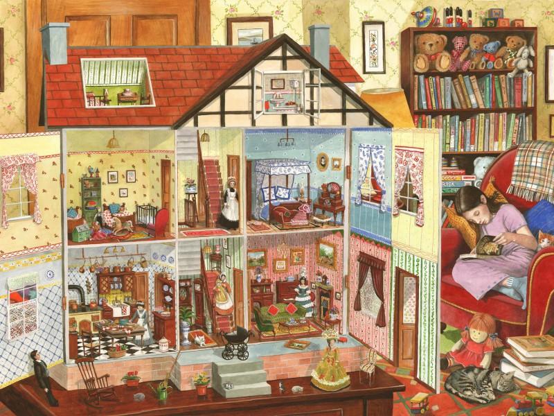 Пазл Собирать пазлы онлайн - Кукольный домик