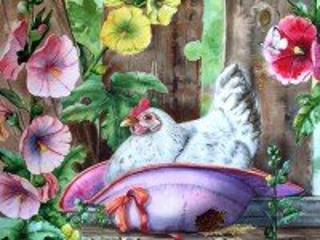 Собирать пазл Курица наседка онлайн