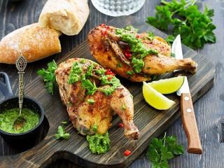 Собирать пазл Курица с песто онлайн