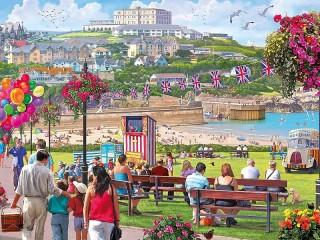 Собирать пазл Курортный городок онлайн