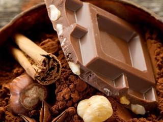 Собирать пазл Кусочек шоколада онлайн