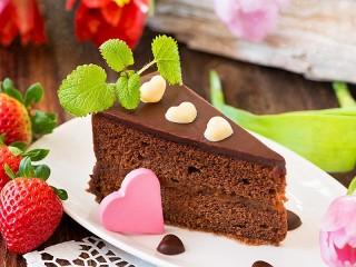 Собирать пазл Кусочек торта онлайн