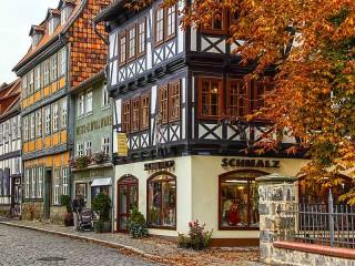 Собирать пазл Квединбург Германия онлайн