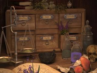 Собирать пазл Лаборатория алхимика онлайн