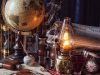 Собирать пазл Лампа и глобус онлайн