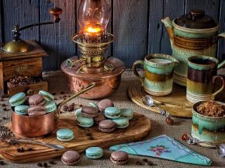 Собирать пазл Лампа и печенье онлайн