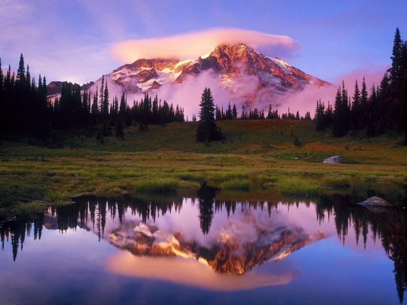 Пазл Собирать пазлы онлайн - Облако над горой