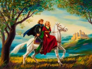Собирать пазл Леди и рыцарь онлайн