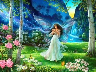 Собирать пазл Лесная фея онлайн