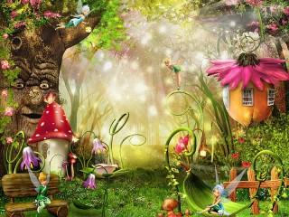 Собирать пазл Лесные феи онлайн