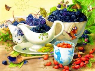 Собирать пазл Лесные ягоды онлайн