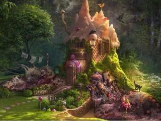 Собирать пазл Лесной домик  онлайн