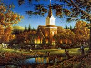 Собирать пазл Церковь в лесу онлайн