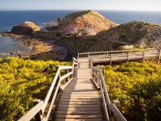 Собирать пазл Лестница к берегу онлайн