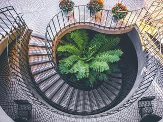 Собирать пазл Лестница онлайн