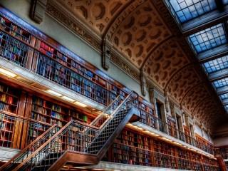 Собирать пазл Лестница в библиотеке онлайн