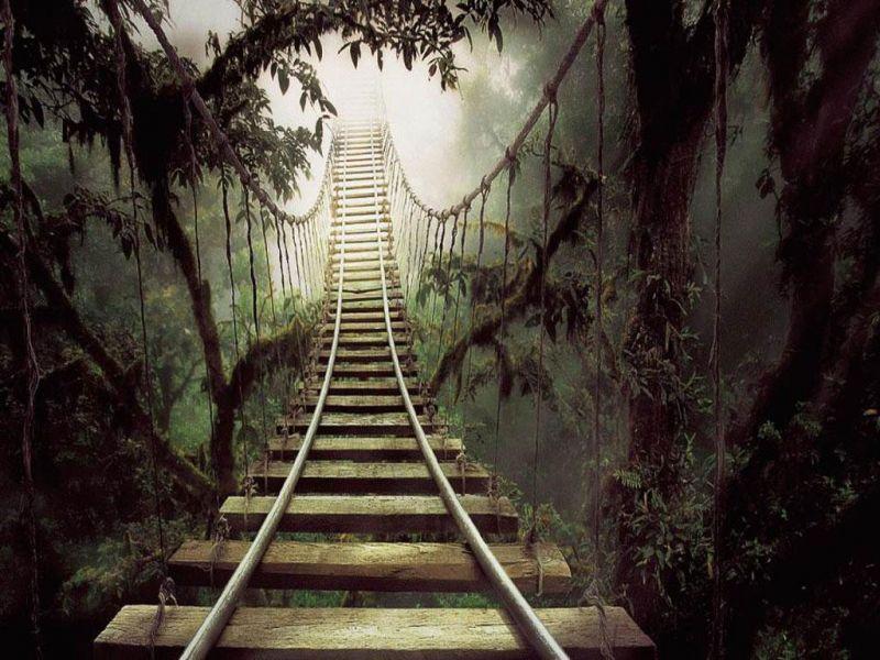 Пазл Собирать пазлы онлайн - Лестница в даль