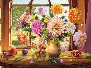 Собирать пазл Летний натюрморт онлайн