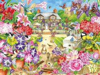 Собирать пазл Летний сад онлайн