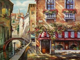 Собирать пазл Летняя Венеция онлайн