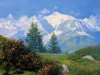 Собирать пазл Лето в горах онлайн