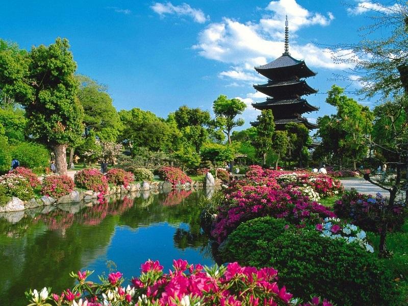 Пазл Собирать пазлы онлайн - Храм Кофуку-дзи