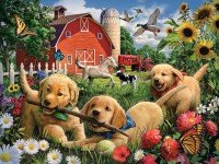Собирать пазл Летом на ферме онлайн