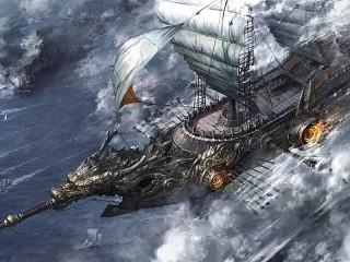 Собирать пазл Летучий корабль онлайн