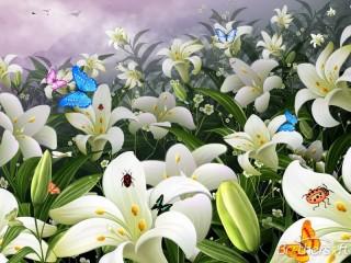 Собирать пазл Лилии цветут онлайн