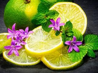 Собирать пазл Лимон и мята онлайн