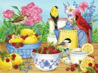 Собирать пазл Лимоны и малина онлайн