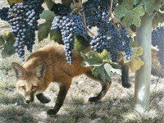 Собирать пазл Лисица и виноград онлайн