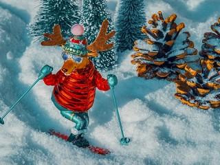 Собирать пазл Лыжник онлайн