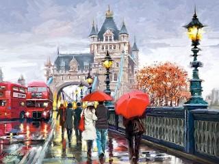 Собирать пазл Лондон в красном цвете онлайн