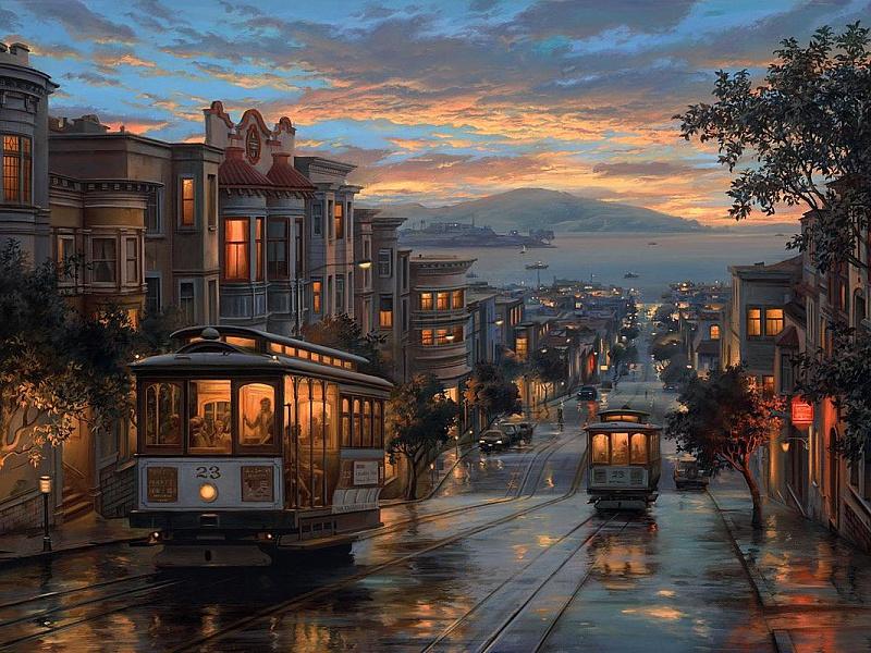 Пазл Собирать пазлы онлайн - Сан-Франциско